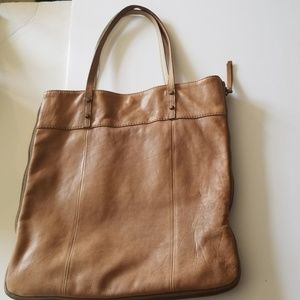 J Crew Leather Rectangle Leather Tote Bag